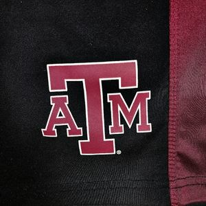 Texas A&M Shorts XL Men's Black Maroon Gym Work Out Game Day Pockets Aggies